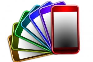 Tlphones portables multicolores
