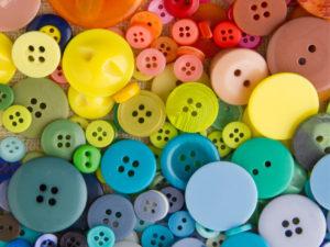Colorful plastic buttons pict