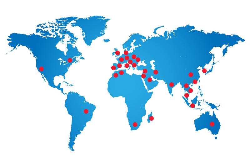 Photo carte du monde TCN