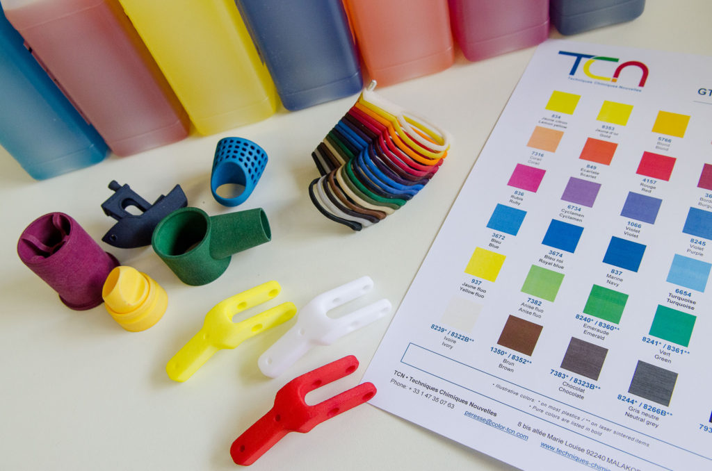 3D printing example and color chart pict